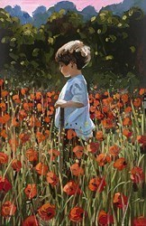 Lost Amongst the Poppies  by Sherree Valentine Daines - Hand Finished Limited Edition on Canvas sized 8x12 inches. Available from Whitewall Galleries